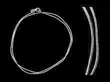 Нательная цепочка с плетением стального цвета