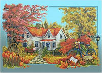 Схема для вышивки бисером Осенняя история (А1)