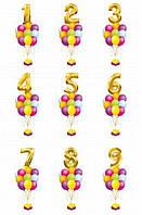 Набор именинника (Цифра 102см+11гелиевых шаров)