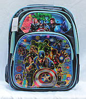 Школьный рюкзак ортопедический Мстители для мальчиков Портфель ранец для школы 3, 4, 5 класс