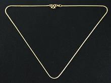 Тонкая цепочка на шею золотистая