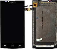 Дисплей (экран) для телефона Philips S398 + Touchscreen