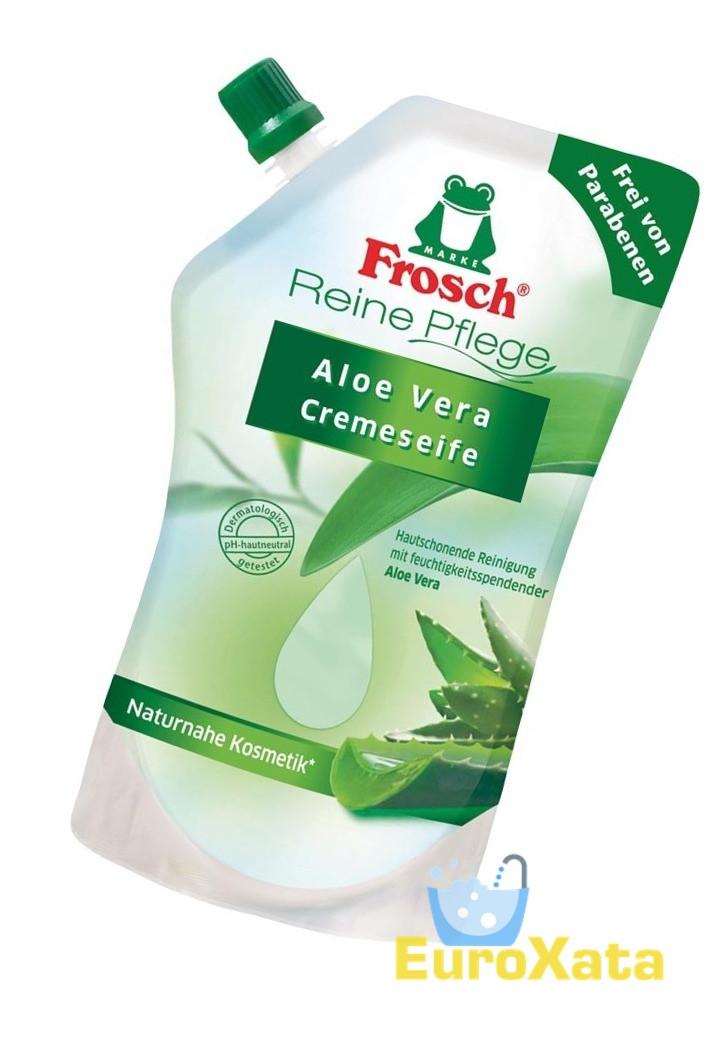 Органическое Крем-мыло Frosch Cremeseife Aloe Vera (500 мл) органическое (Германия)