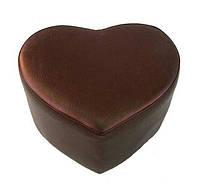 Пуф сердце коричневый