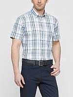 Мужская рубашка LC Waikiki с коротким рукавом белого цвета в полоску
