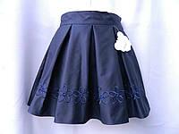 """Юбка  """"Сати"""" с вышивкой для девочек 6-12( рост 128-158)"""