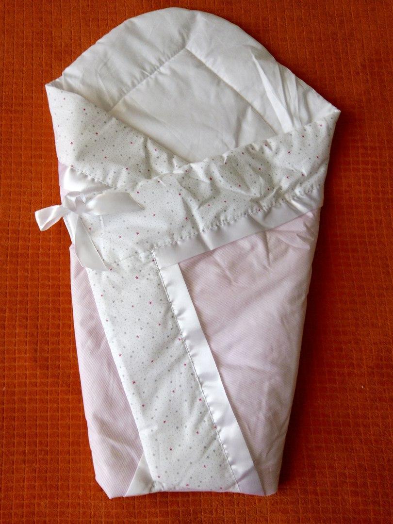 Летний конверт-одеяло на выписку 75*75 розовое Звездочки - Интернет магазин Cheholl в Киеве