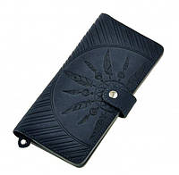 """Оригинальный женский кожаный кошелек BlankNote """"Инди"""" BN-PM-7-nn-ls ночное небо"""
