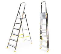 Лестница алюминий 6 ступений ALVE 324 см