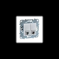 Розетка телефонная RJ-11 1-модульная. Белый Unica Schneider Electric MGU5.9090.18ZD