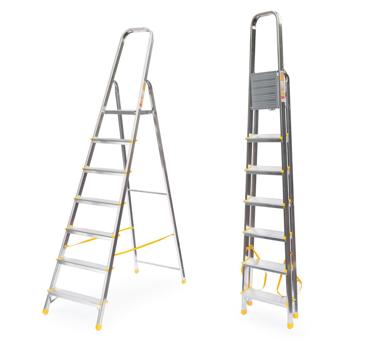 Лестница алюминий 7 ступений ALVE 345 см