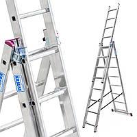 Лестница алюминий 3х8 KRAUSE CORDA 450 см