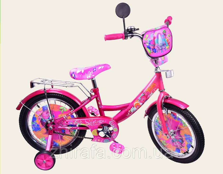 """Детский Велосипед  """"Тролли"""" 12'' , розовый - Интернет-магазин детских товаров """"Жирафа"""" в Одессе"""