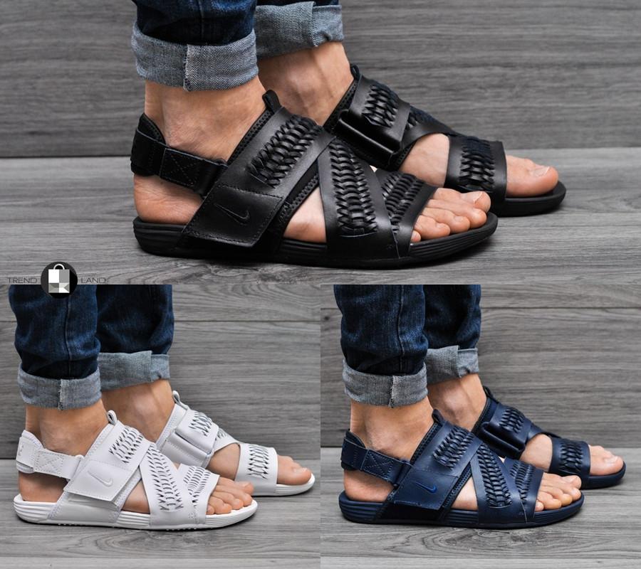 f3c813f12696 Мужские сандалии Nike Air Solarsoft Zigzag Woven 3 цветов (Реплика AAA+) -  Интернет-