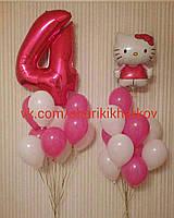 Набор воздушных шаров на день рождения Детский (Цифра 102см+20 гелиевых шаров+ Фигура фольгированная большая)
