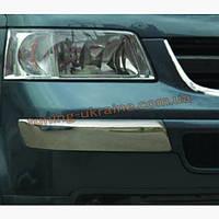 Уголки по бокам на передний бампер Carmos на Volkswagen T5 2003-2010
