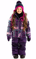 Зимний термокостюм для девочки NANO от 1,5 до 10 лет (куртка и полукомбинезон), р. 86-140 ТМ Nanö Purple 250 M F16