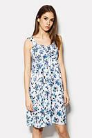 Вільне синє повсякденне плаття-міді Iris Розпродаж (XS)