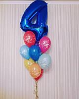 Набор День Рождения с Цифрой (Цифра 102см+10гелиевых шаров с рисунком)