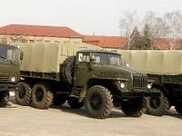 Тенты брезентовые для военной техники