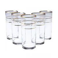 """Набор стаканов """"Liberty"""" низких (6 шт) 280 мл, гравировка под золото TM LAV """"Gurallar Artcraft"""" №31-146-085"""