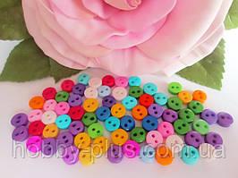"""Пуговицы пластиковые """"Мини"""", 6 мм, цвет микс, 10 шт"""