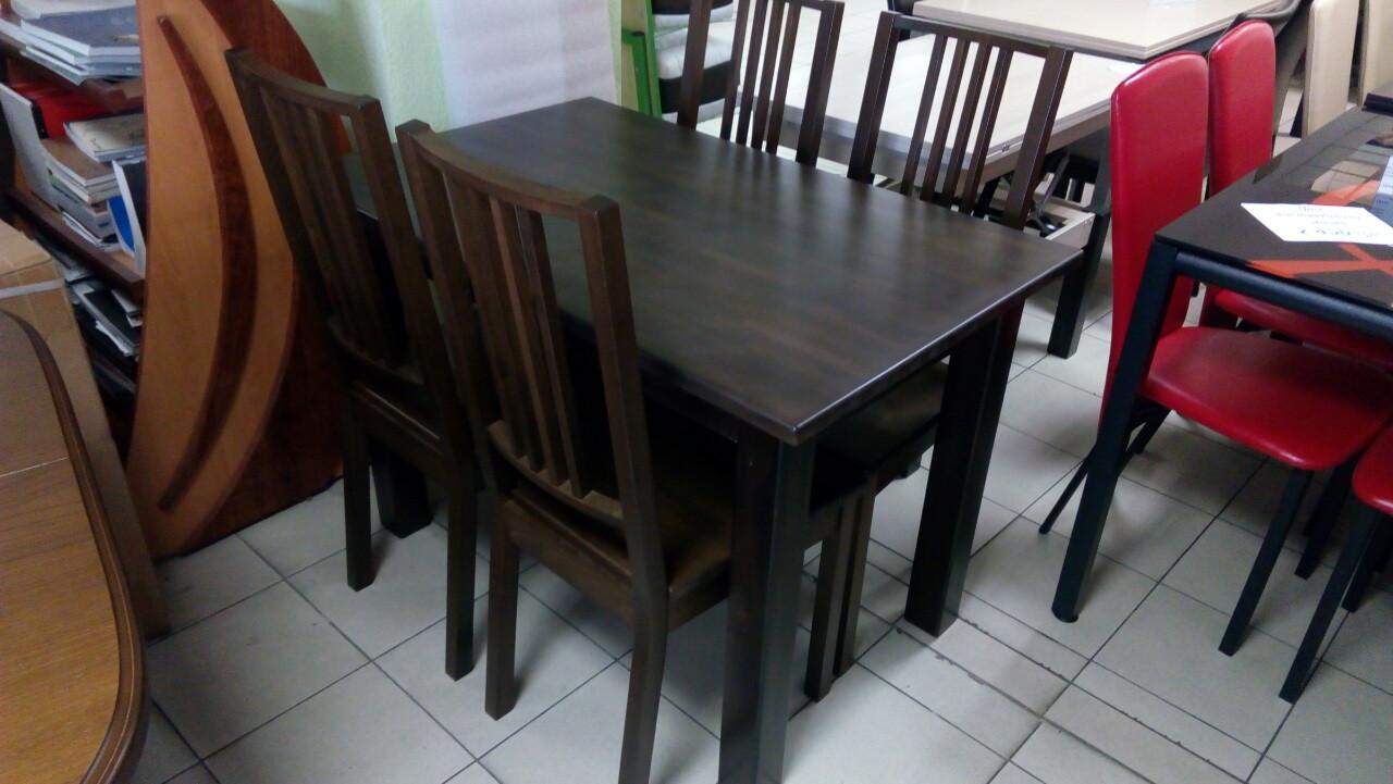 Стол Степ из бука (IKEA) коричневый 120х80х75
