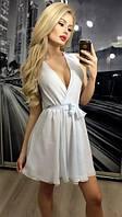 Платье шифоновое на запах с пышной юбкой 146 (АБ)