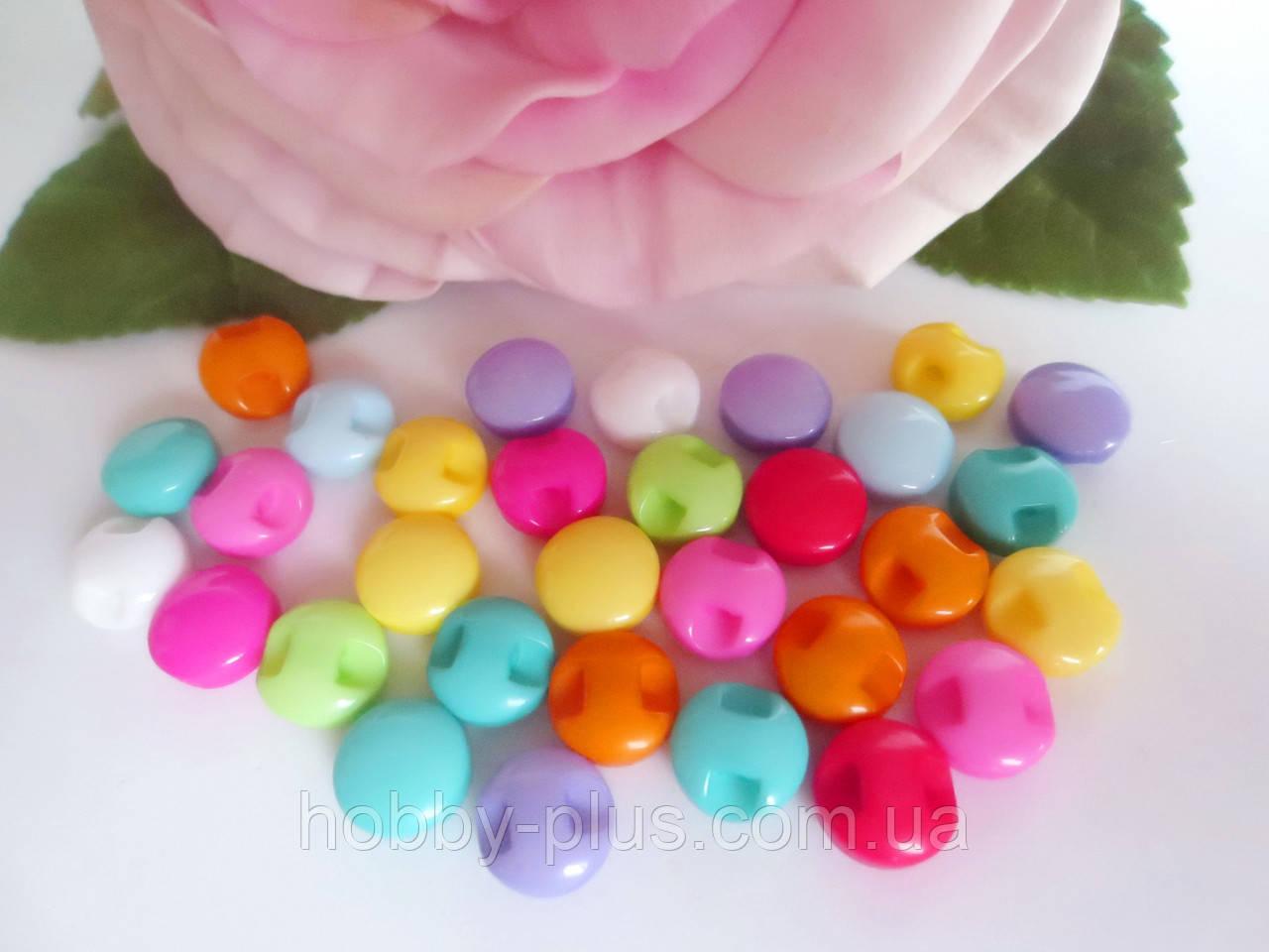 Пуговицы пластиковые, цвет микс, 10 шт