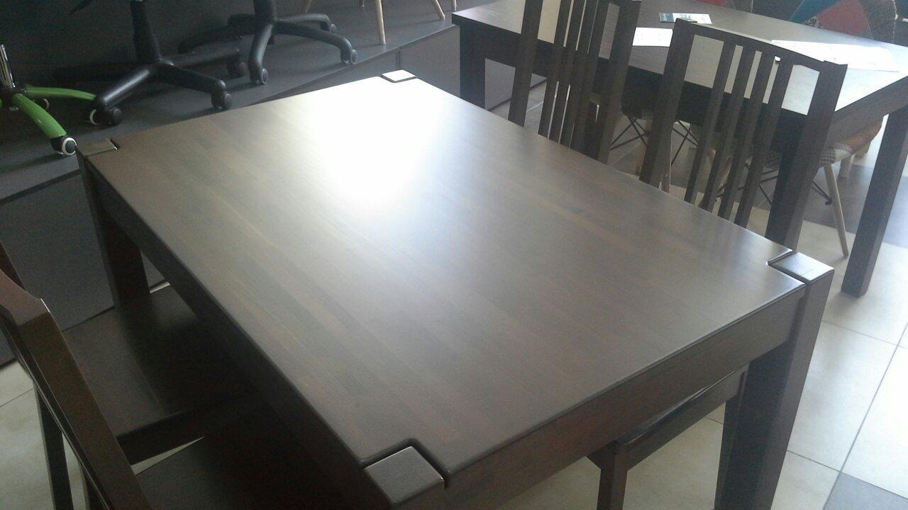 Стол Степ Плюс из бука проходная нога (IKEA) черный 120х80х75