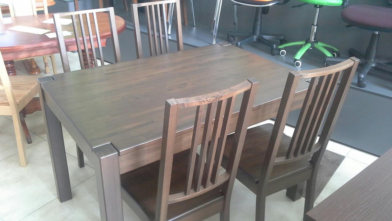 Стіл Степ Плюс з бука прохідна нога (IKEA) коричневий 120х80х75