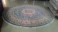 Классический круглый голубой ковер со склада в Днепропетровске, продажа ковров, фото 1