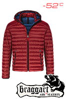 Мужская куртка зимняя очень теплая красная