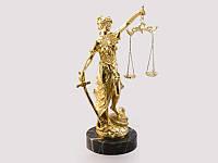 Статуэтка Фемида Богиня правосудия золото натуральный камень