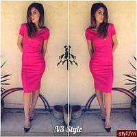 "Платье  ""Dress code"" МИДИ  р.42,44,46, 110 см короткий рукав, фото 1"