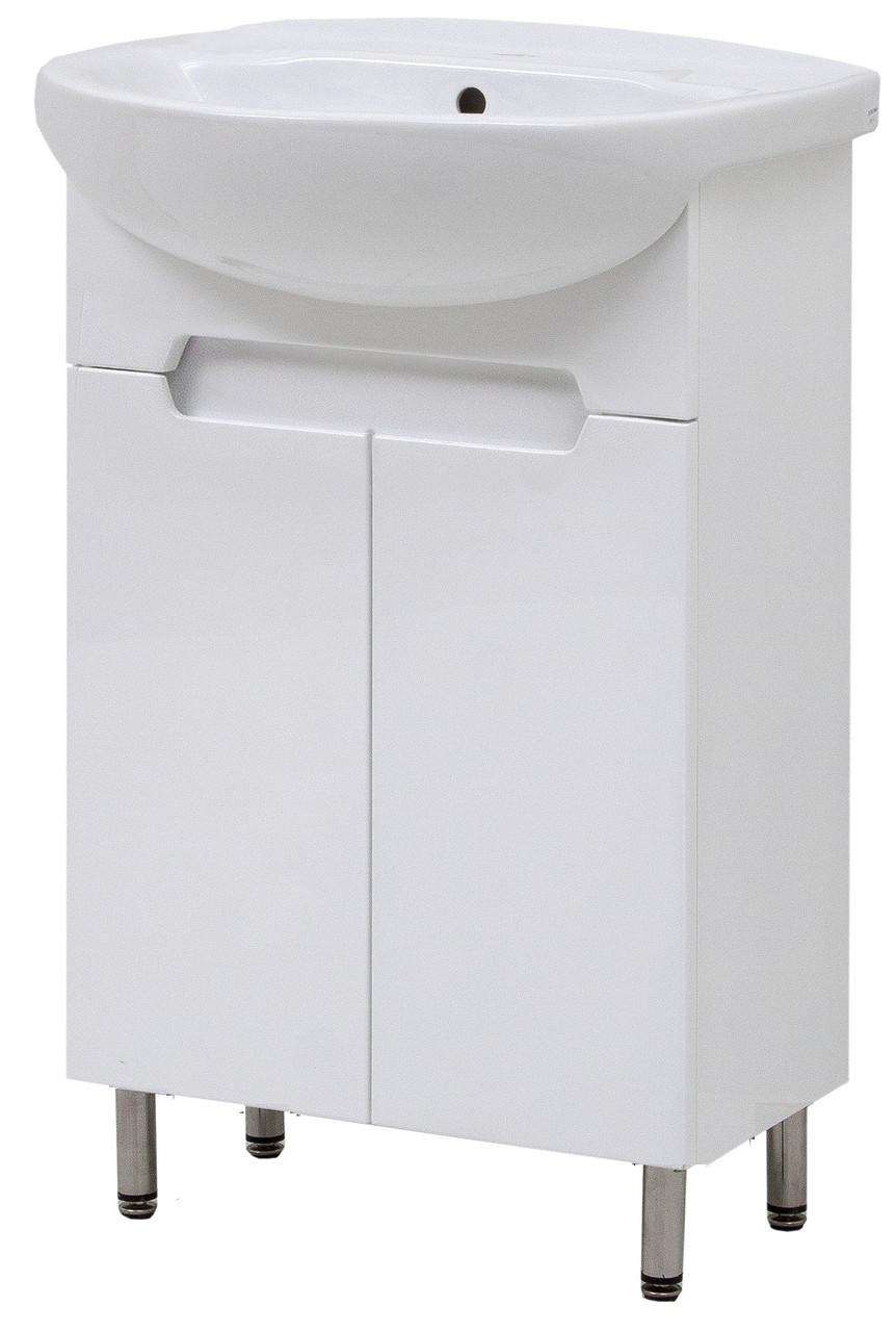 """Тумба под раковину для ванной комнаты Марко 55 Т-1 с умывальником """"Изео"""" Юввис"""