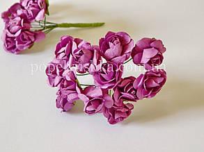 Троянди паперові 1,5 см фіолетові