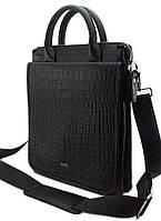 S-9098 DIZAR Портфель черный+рептилия