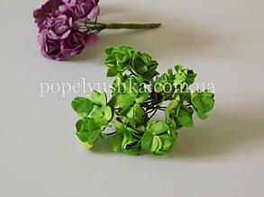 Троянди паперові 1,5 см салатові