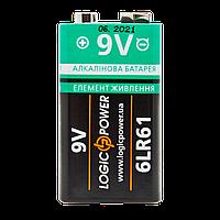 Батарейка крона Alkaline LogicPower  6LR61 9V  бл 1шт