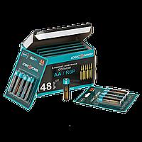 Батарейка LogicPower Super heavy duty AA R6P бл 4шт пальчик Коробка 12 блистеров