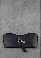 Кожаный чехол для очков Оникс. Ручная работа