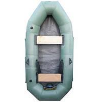 Лодка надувная 2-х местная. резиновая