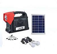 ✅ Фонарь ручной светодиодный Yajia YJ-1903, USB, MP3, FM радио, солнечная панель