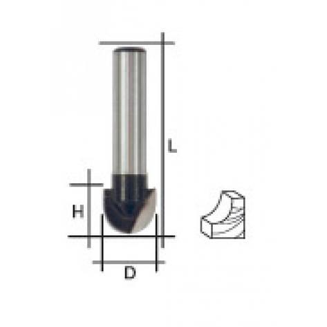 Фреза пазовая галтельная, DxHxL = 12х9,5х42 мм, фото 2