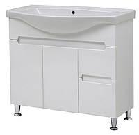 """Тумба под раковину для ванной комнаты Марко 85 Т-19 с умывальником """"Изео"""" Юввис"""