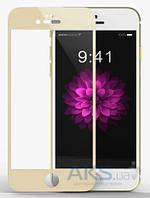 Защитное стекло Apple iPhone 6, iPhone 6S|Tempered Glass|Золотой|На весь экран|
