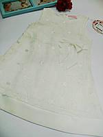 Сарафан детский белый мятный кружево макраме