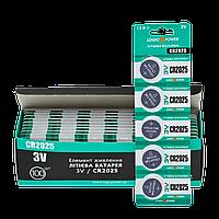Батарейка LogicPower Lithium CR2025 3V бл  5шт