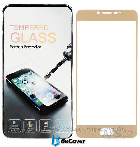 Защитное стекло Meizu U20|BeCover|Золотой|На весь экран, фото 2